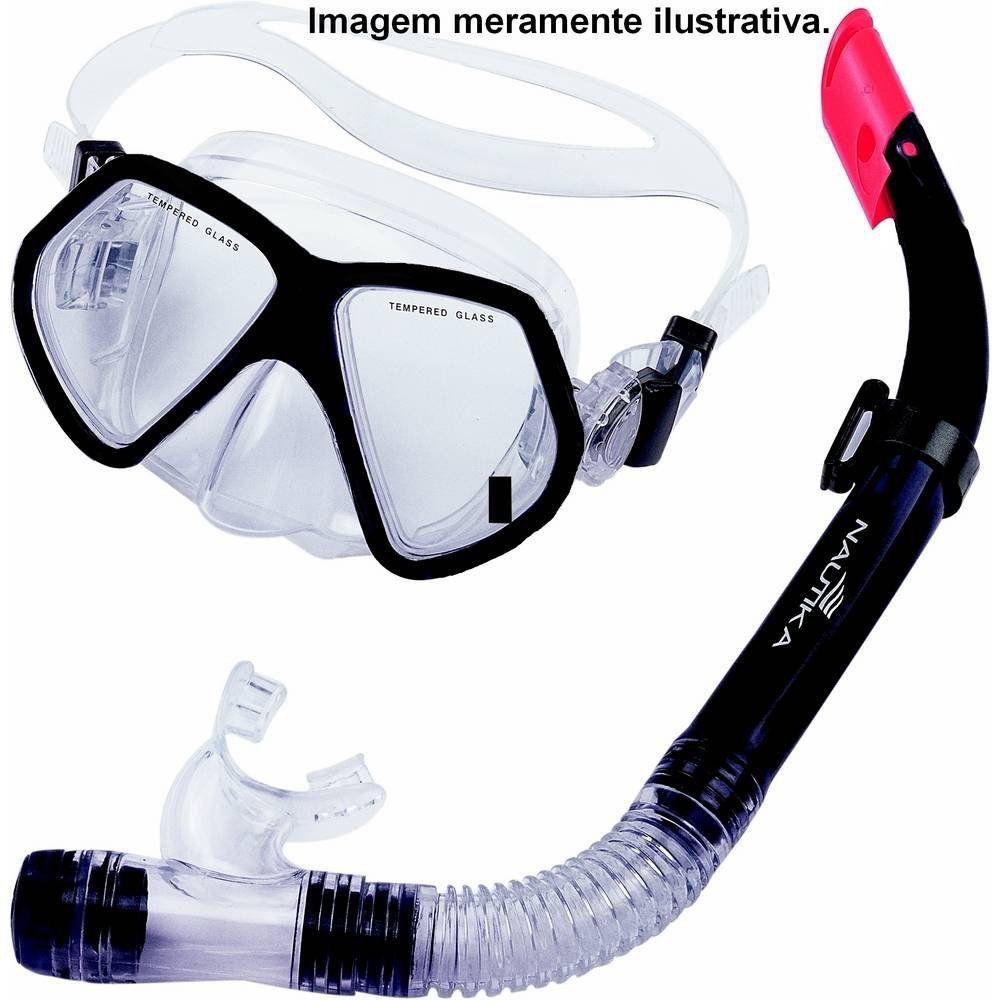 Kit Mergulho Mascara e Respirador Snorkel Thai Nautika