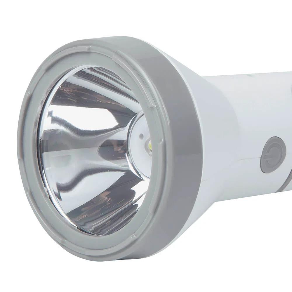 Lanterna 140 Lumens Branca Recarregável Mor