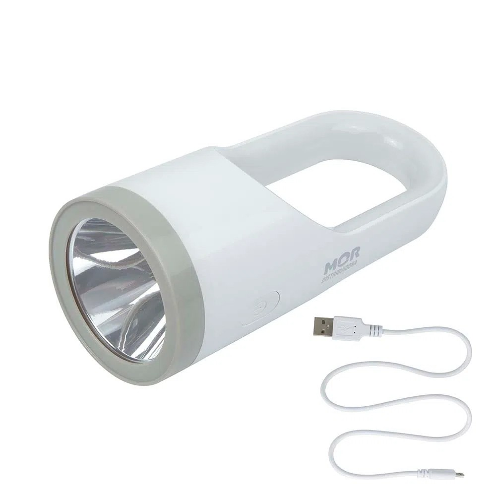 Lanterna 160 Lúmens Branca Recarregável Mor