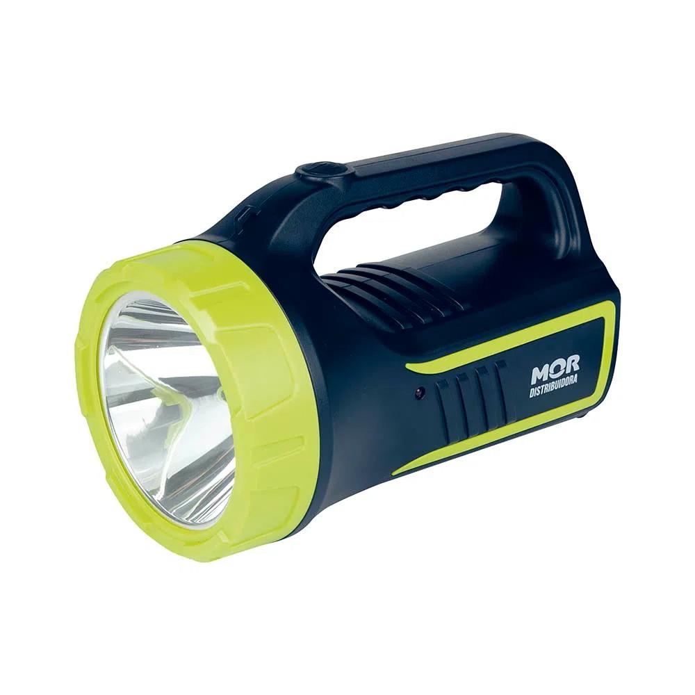 Lanterna Holofote Power Led 265 Lúmens Recarregável Mor