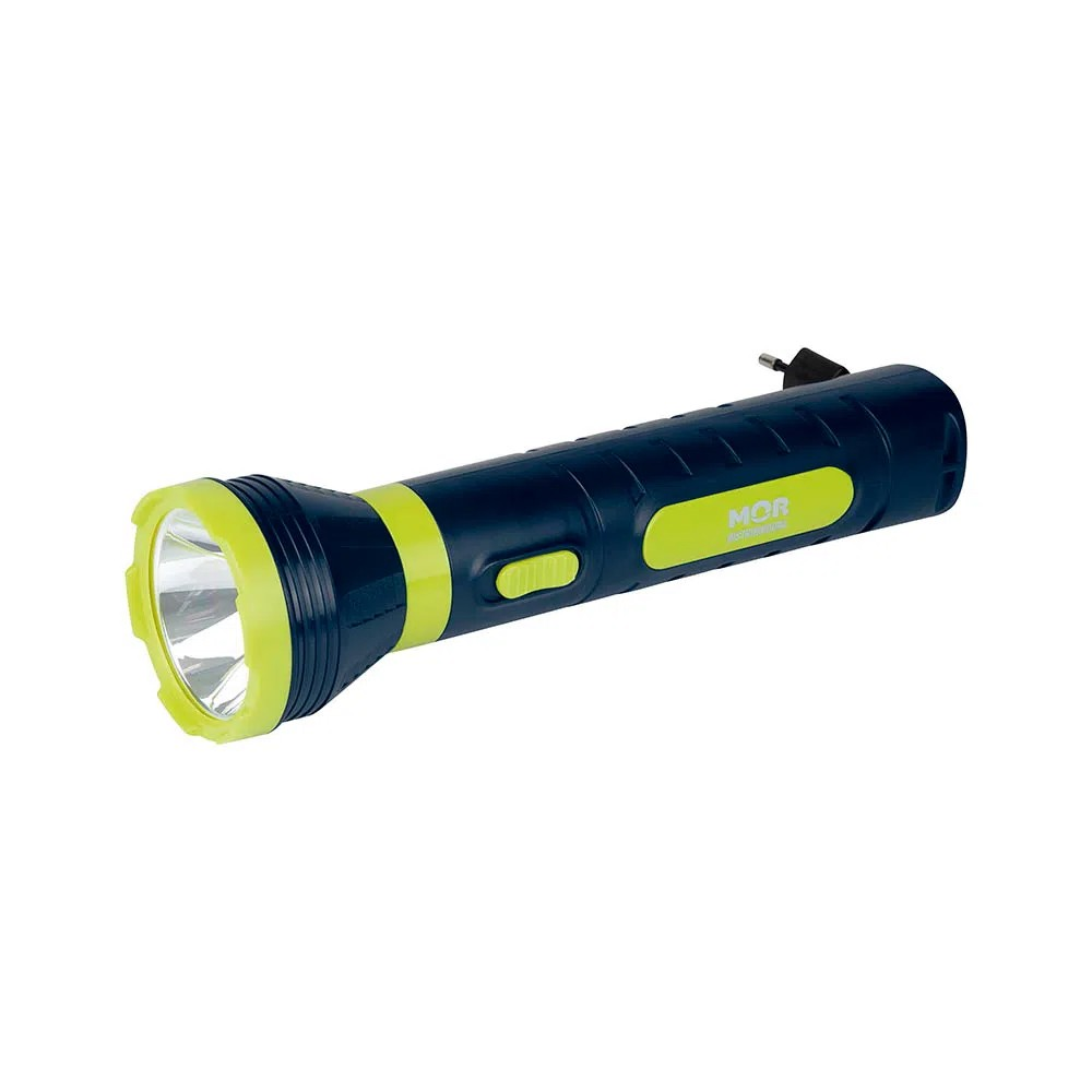Lanterna Power LED 140 Lumens Branca Recarregável Mor