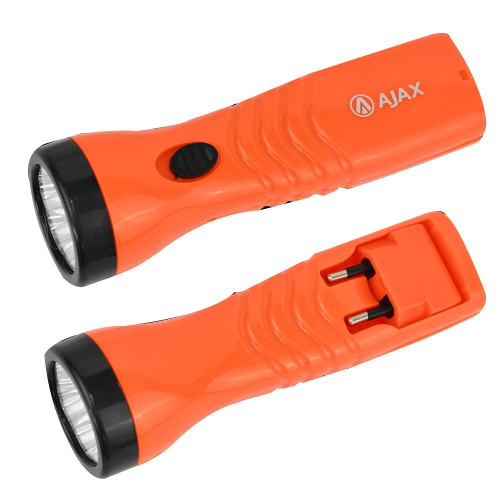 Lanterna Recarregável Bivolt 5 LEDS Ajax
