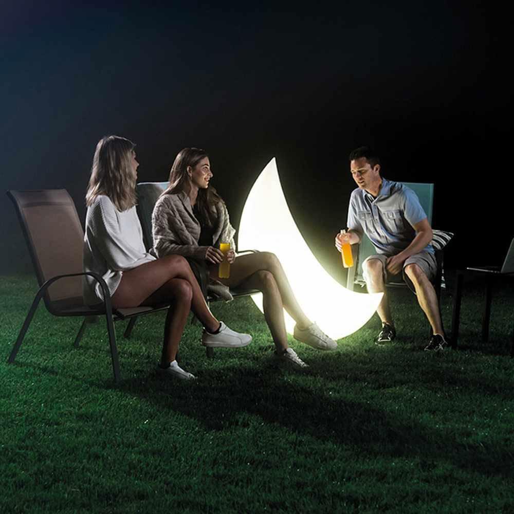 Luz de Led Flutuante para Piscina ou Decoração Lua Crescente Intex