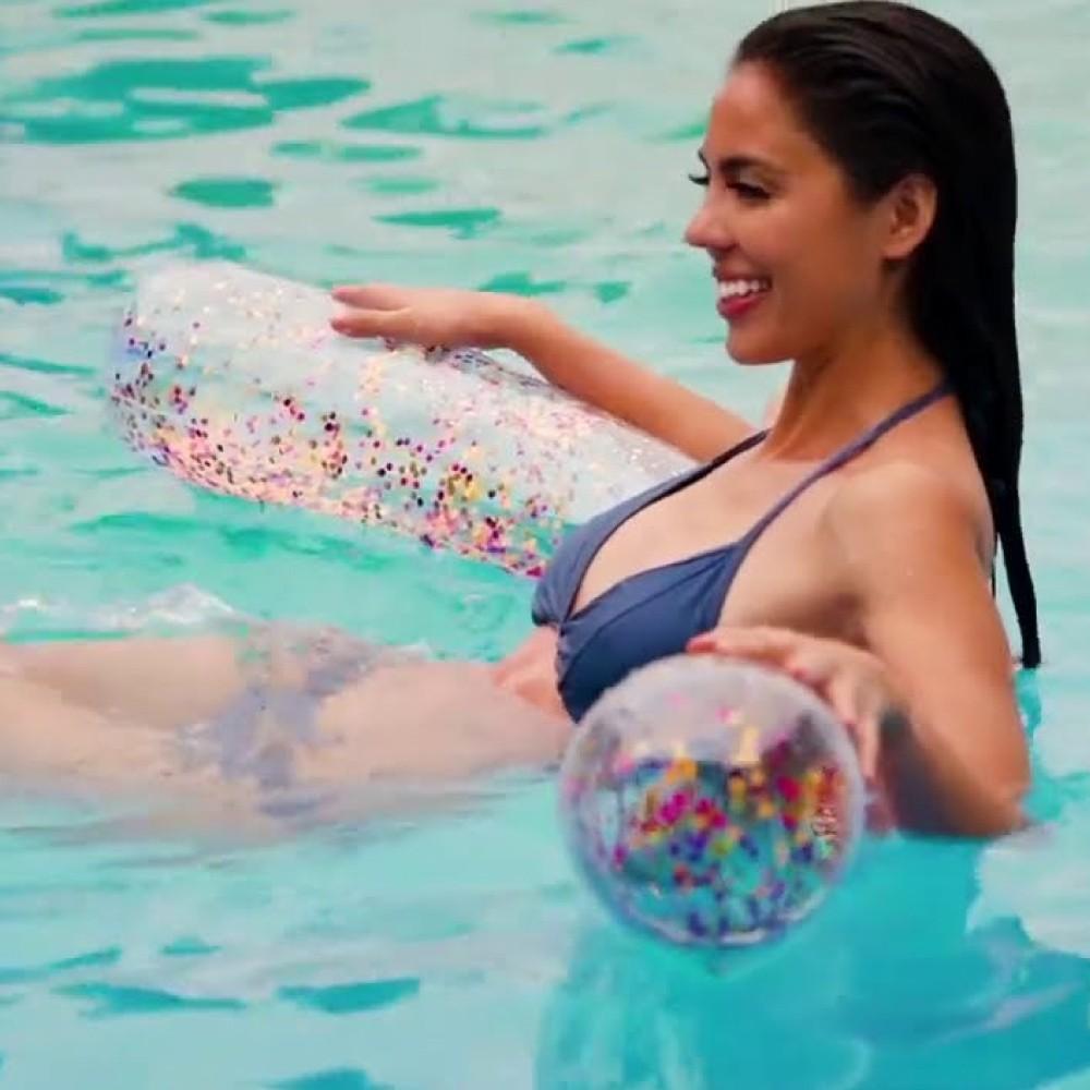 Macarrão Inflável para Piscina com Glitter Intex