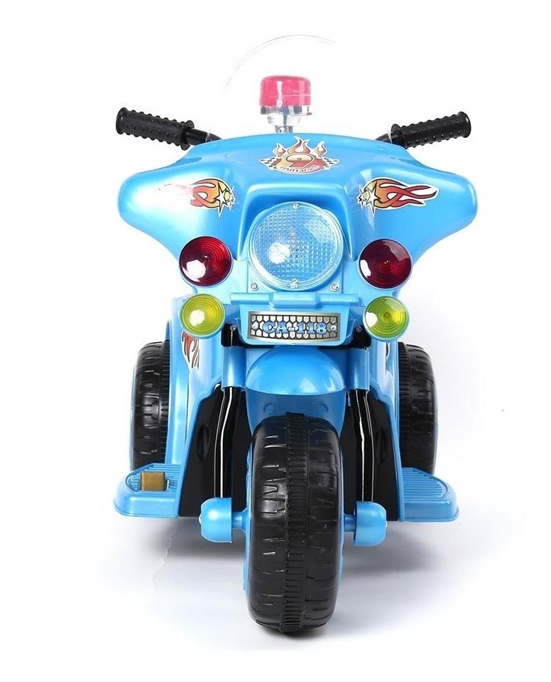 Mini Moto Eletrica Infantil Policia 6V 18W Importada