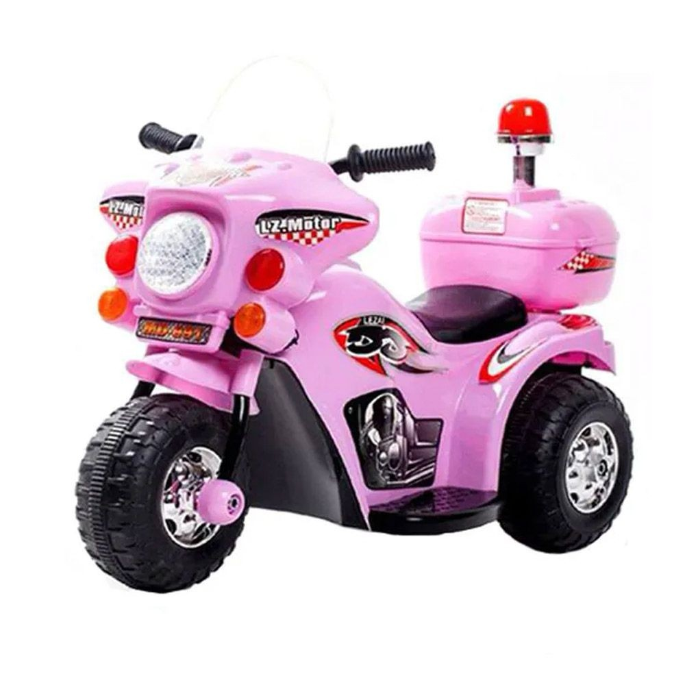 Mini Moto Eletrica Infantil Policia 6V 18W Rosa Importway