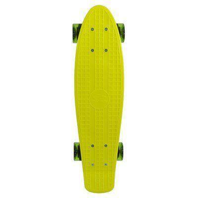 Mini Skate Cruiser Longboard Rodas Truck Abec-7 Surf Mormaii Amarelo
