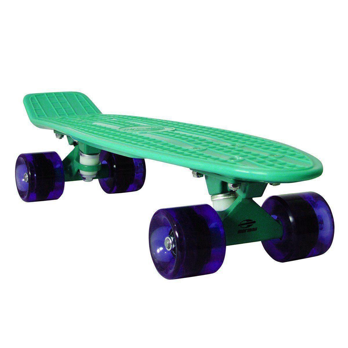 Mini Skate Cruiser Longboard Rodas Truck Abec-7 Surf Mormaii Azul