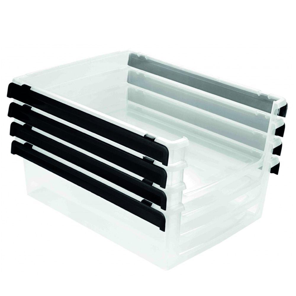 Organizador Plástico Transparente Empilhável Multiuso Ordene