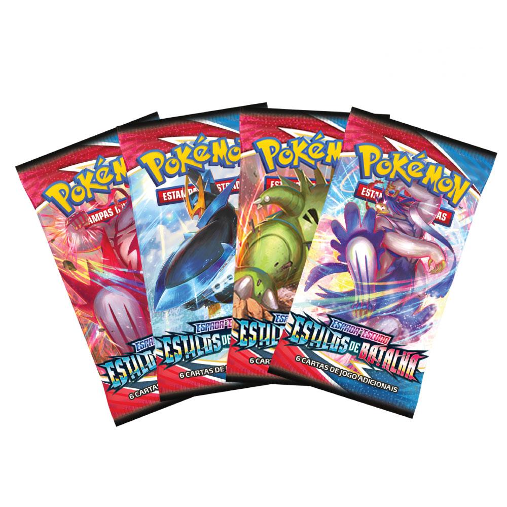 Pacote Cartas Pokémon EE2 Booster 6 Cartas - Copag