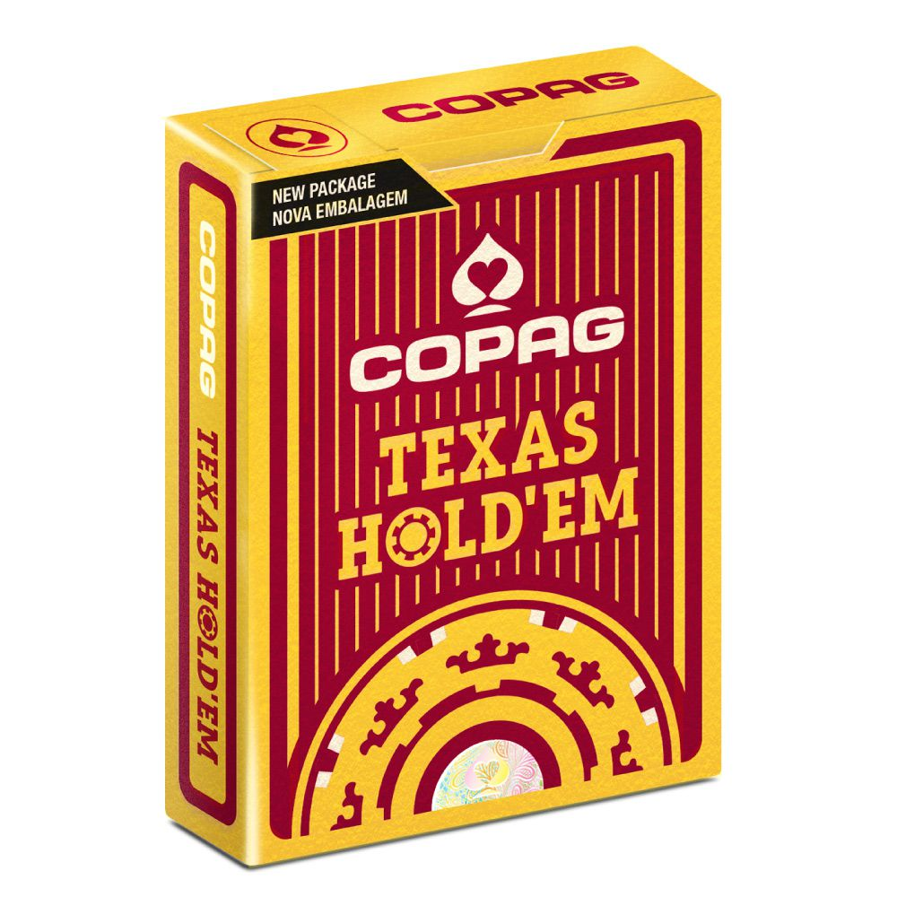 Par Baralho Plástico Texas Hold'em NG - Poker Size Preto e Vermelho Copag