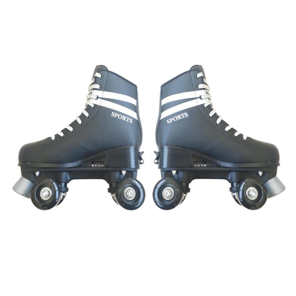 Patins Fenix 4 Rodas Roller Skate Ajustável Preto Fenix