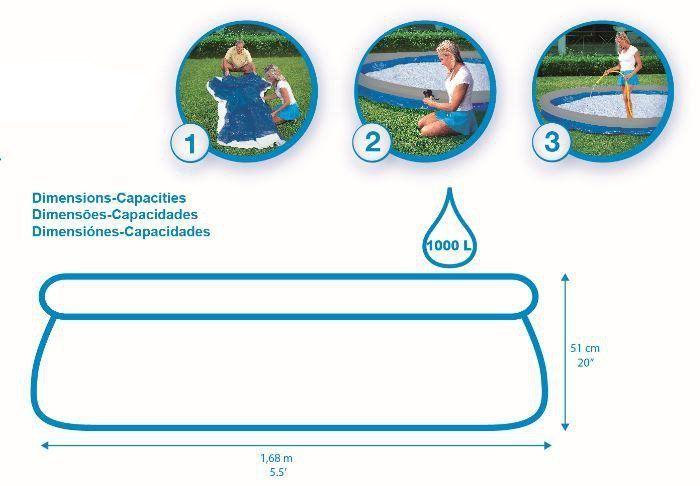Piscina Fast Set Inflável 1.000 Litros Infantil - Bestway