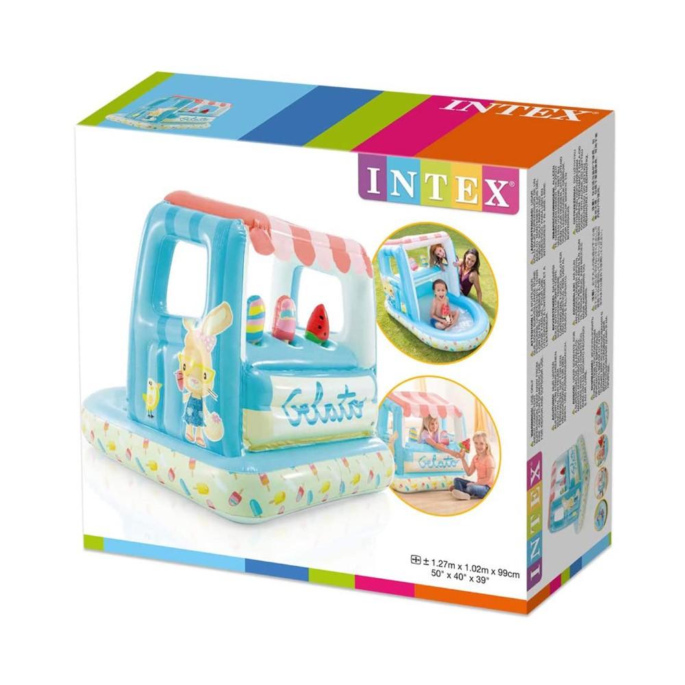 Piscina Inflável Infantil Com Cobertura Ice Cream 60 Litros Intex