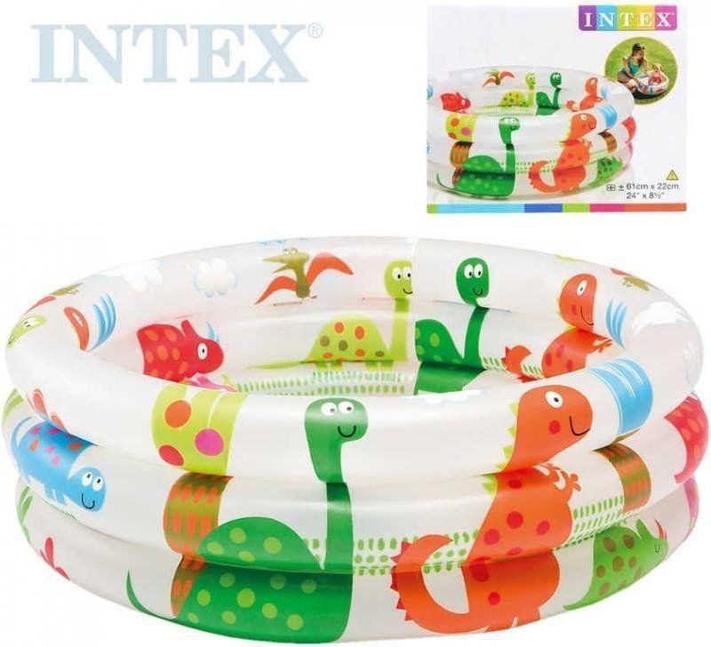 Piscina Inflável Infantil Dino 3 Anéis 28 Litros - Intex