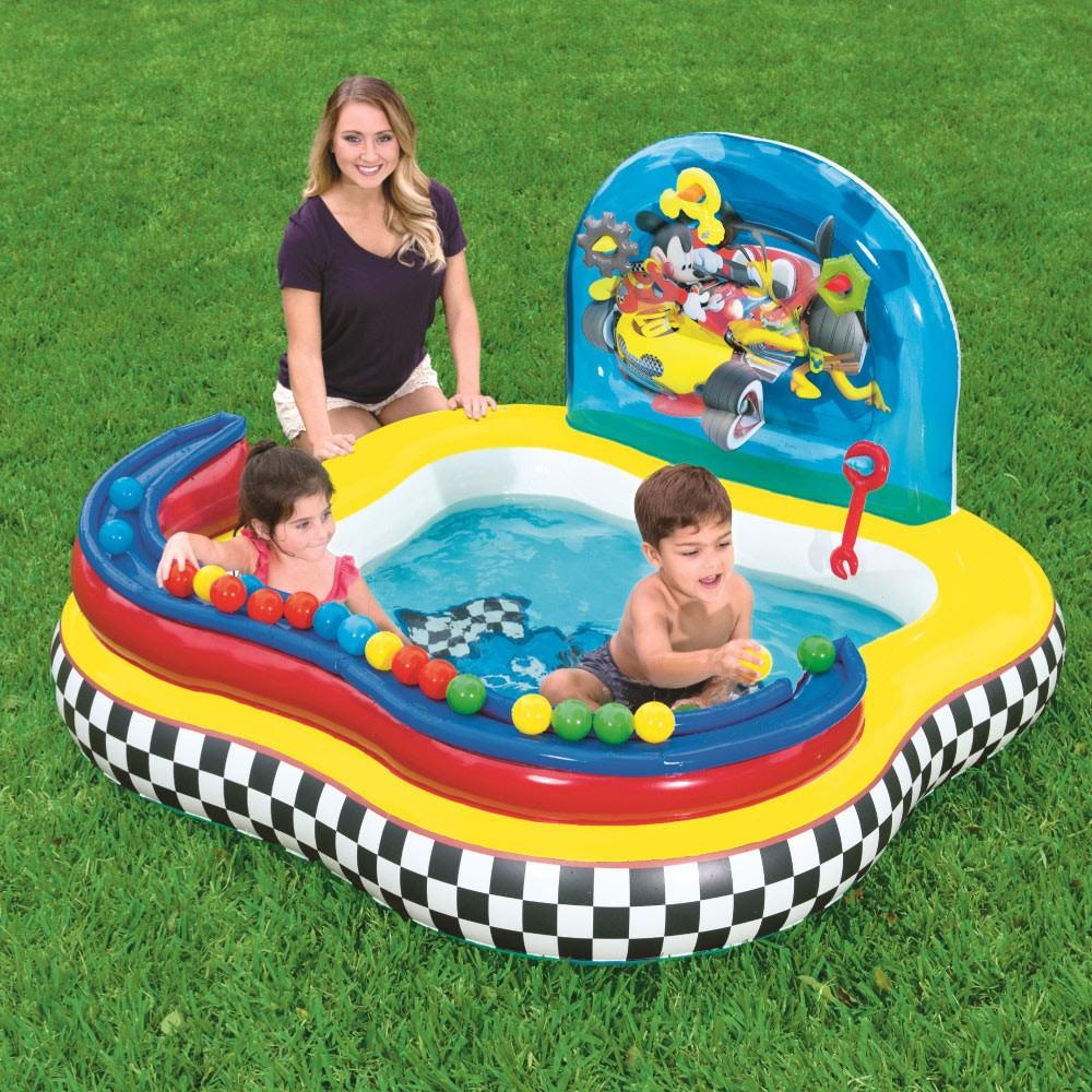 Piscina Inflável Infantil Playcenter Mickey com 6 Bolinhas Bestway