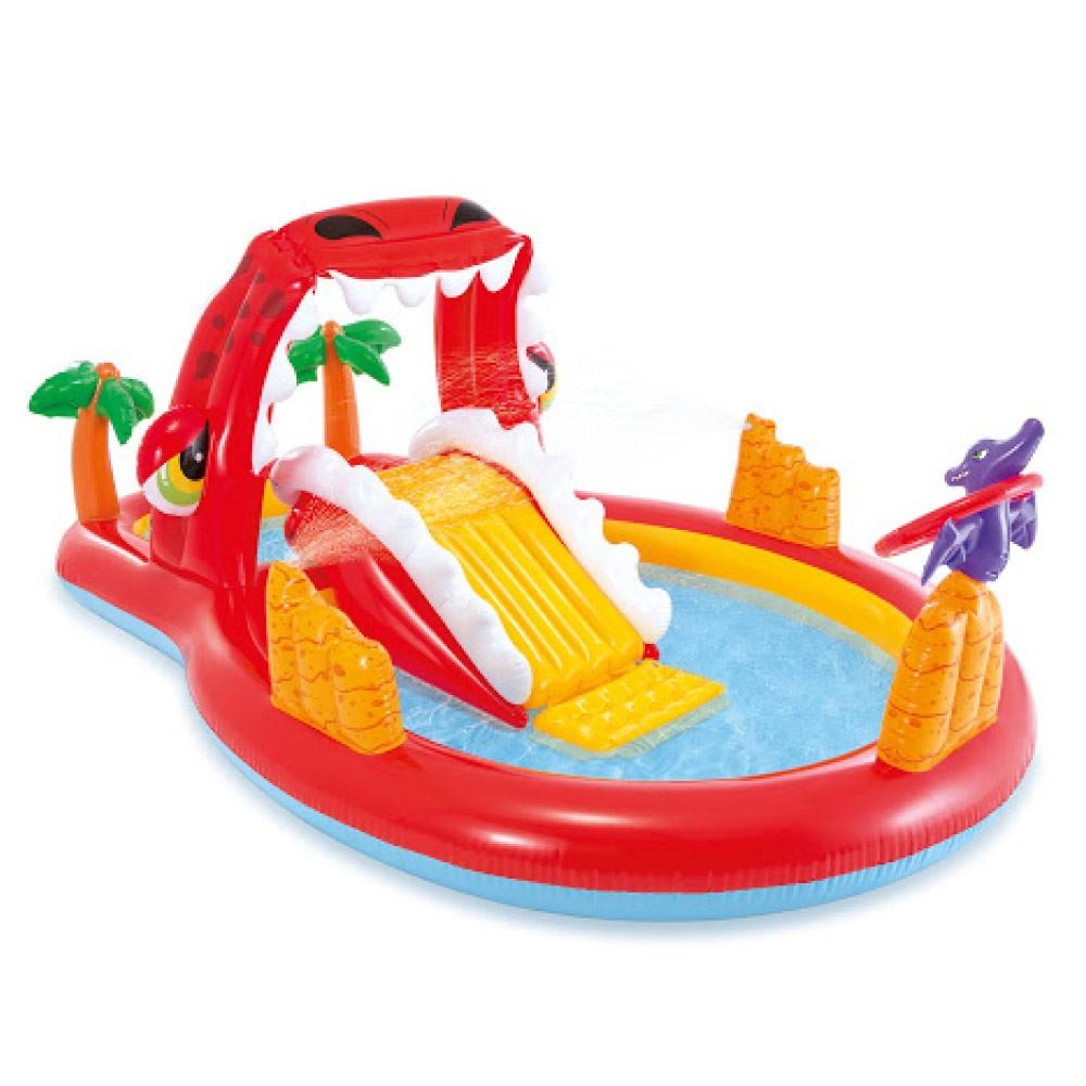 Piscina Inflável playground Dino Feliz 150 Litros Intex