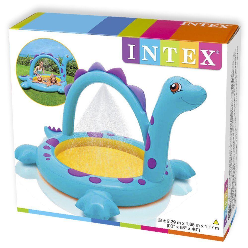 Piscina Inflável Infantil Spray Dinossauro 170 Litros  57437-  Intex
