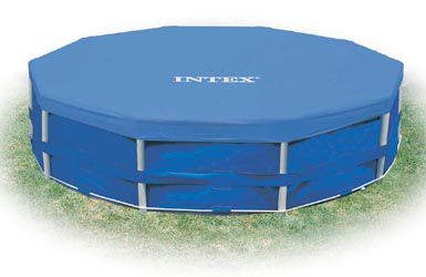Piscina Intex 4.485 Litros Estrutural Azul Capa Bomba Filtrante Forro Kit Limpeza