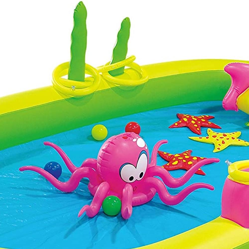 Piscina Playground Inflável Animais Marinhos Jilong