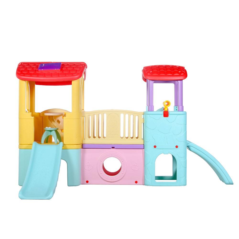 Playground Infantil 3 Em 1 Casinha Túnel Escorregador Importado