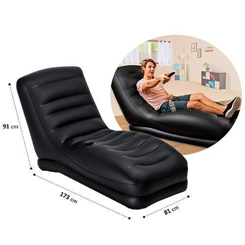 Poltrona Inflável Porta Copos Mega Lounge Intex