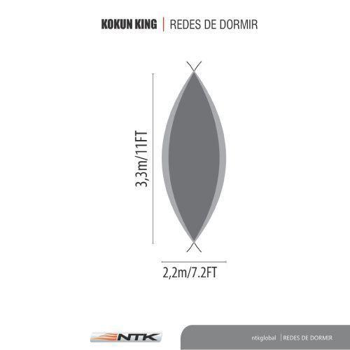 Rede para Dormir King  até 190kg Kokun - Nautika