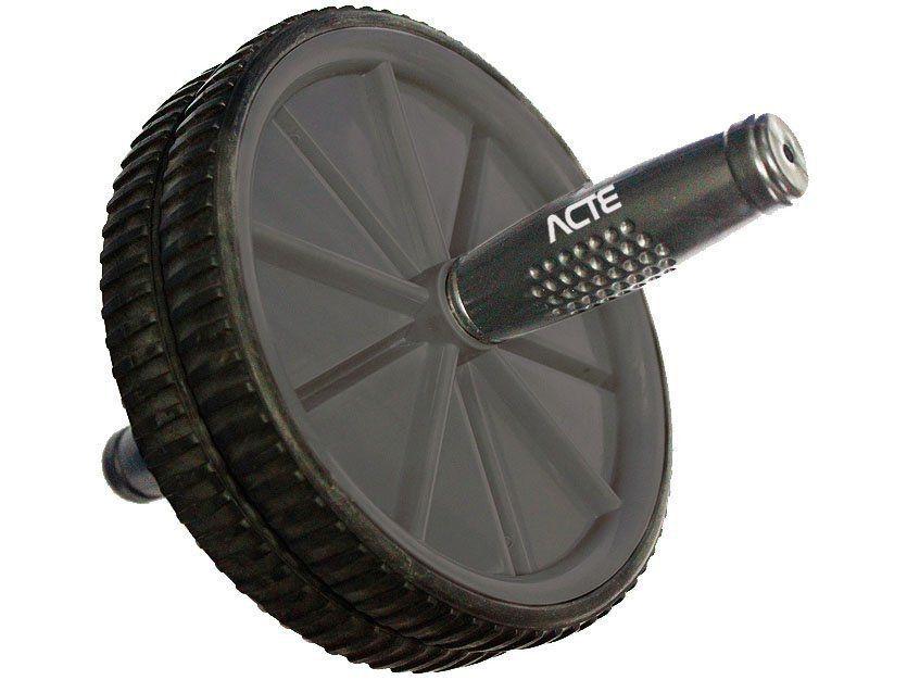 Roda Abdominal até 100 Kg Cinza + Fita de Suspensão TRX - Acte