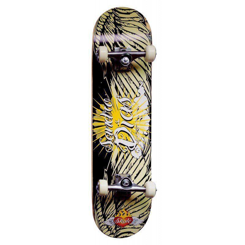 Skate Completo Profissional Sandro Dias Mineirinho Abec5 90a Amarelo