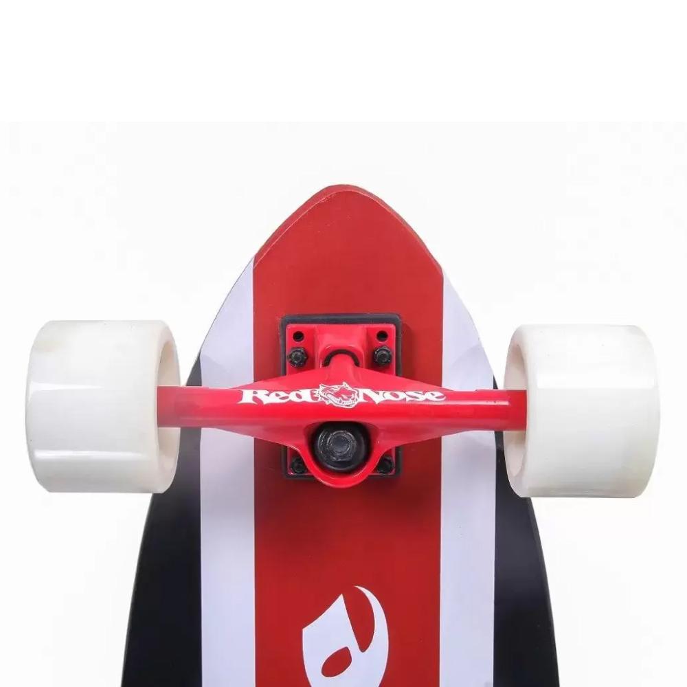 Skate Longboard Alta Perfomance Vermelho/ Preto Red Nose