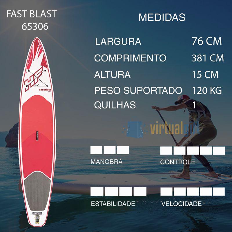 Stand Up Inflável Fastblast + Bomba de Inflar + Bolsa + Leash Bestway