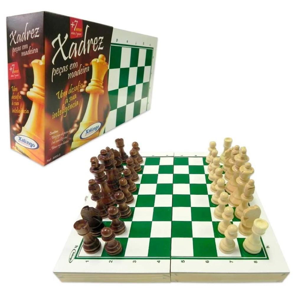 Tabuleiro de Xadrez com Peças em Madeira 60032 - Xalingo