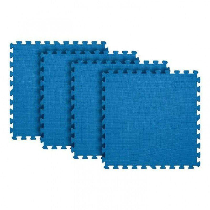 Tatame Para Exercícios Eva Azul 4 Peças Tapete 61 X 61cm Mor