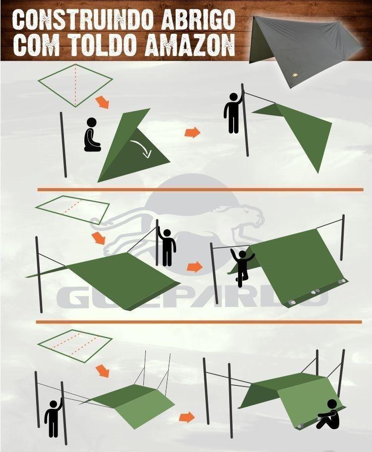 Toldo para Barracas e Redes  3 Metros Amazon - Guepardo