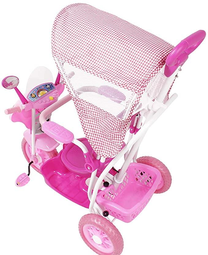 Triciclo Infantil 3 em 1 Com Capota - Belfix
