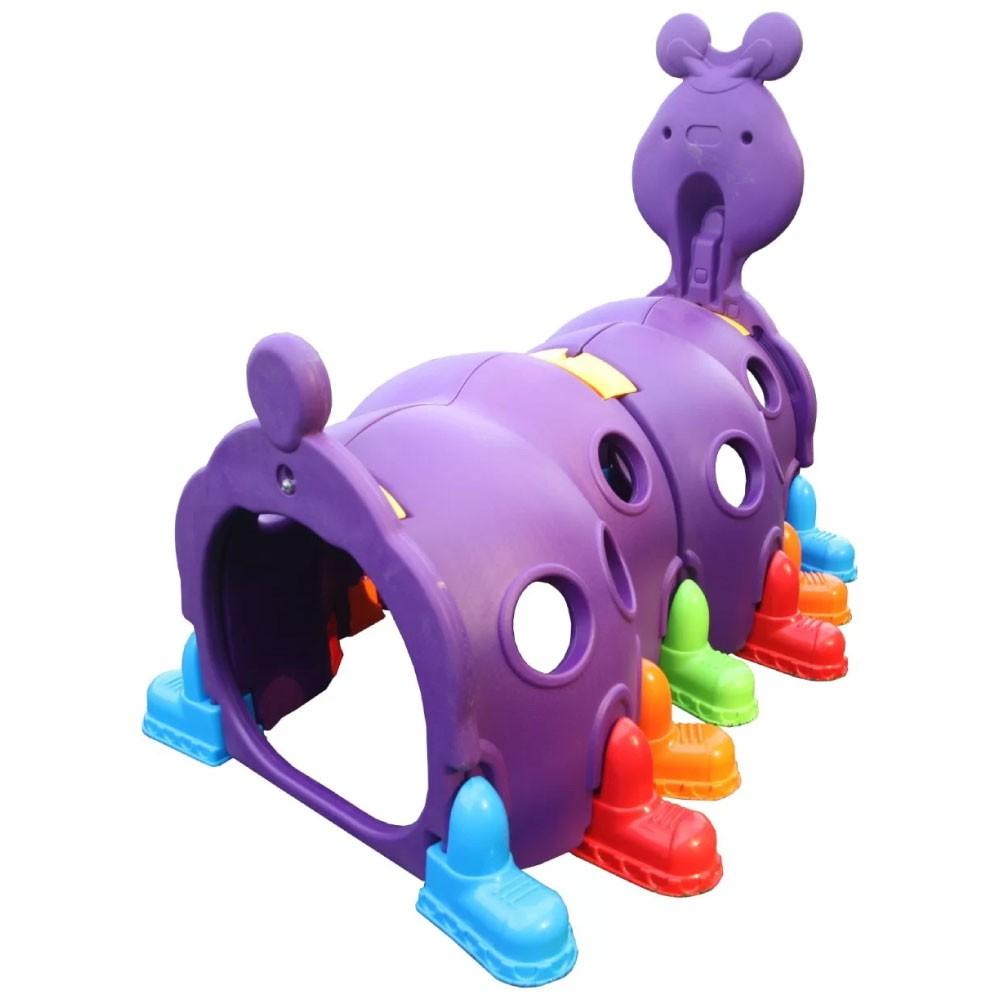 Túnel Infantil Centopeia para Crianças à Partir de 3 Anos Roxo Importway