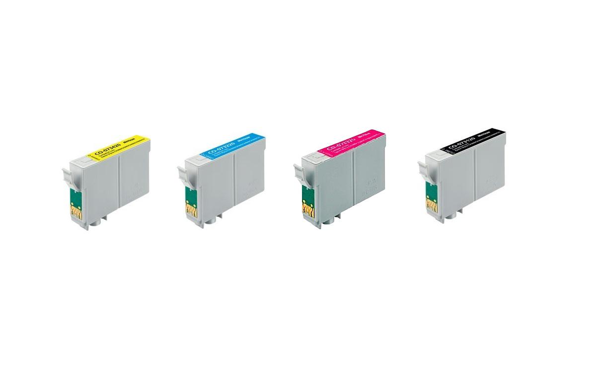 Kit Cartucho Similar Epson 73n (Todas as Cores)