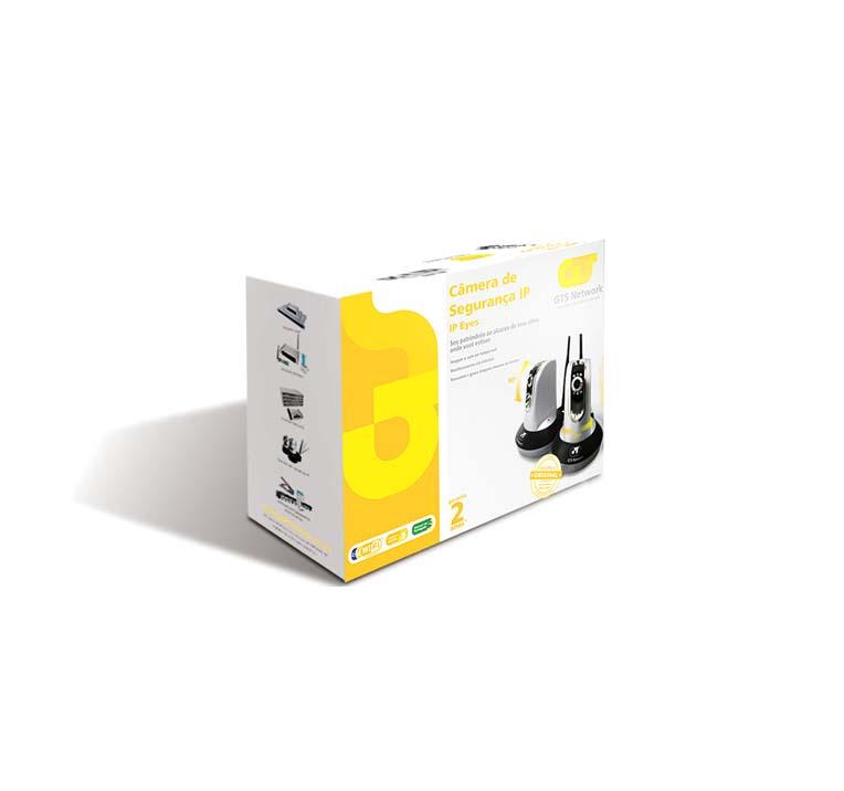 Câmera de Segurança IP Eyes Internet Security 10/100Mbps Wireless Visão Noturna GTS Network 80.0400