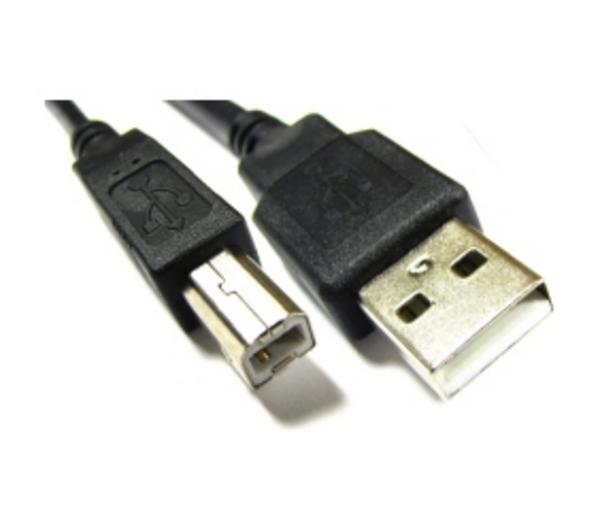 Cabo USB A/B 1,8Mt Preto