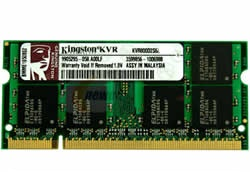 Memória p/ Notebook Kingston 1GB DDR2/800 Mhz (KVR800D2S6/1G)