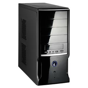 Gabinete RJAC-618-BP UA Black Wisecase 500W