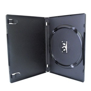 Estojo Capa Box Preto P/ CD DVD Amaray 10 Unidades