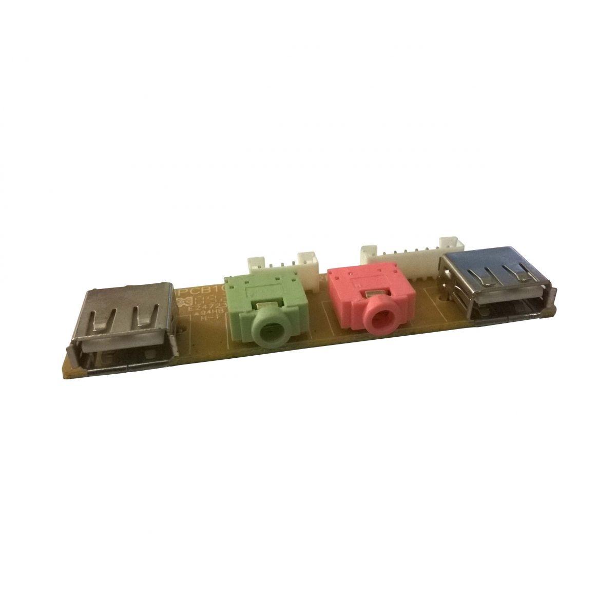 Placa USB + Fone e Microfone Frontal Gabinete (semi novo)