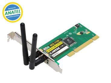 PCI - WIFI N (300 Mbps) com 02 antenas 9141
