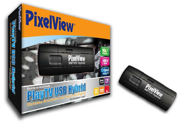 Adaptador de TV USB Pixelview Híbrido Play TV SBTVD PV-B308U (FRTN)-F