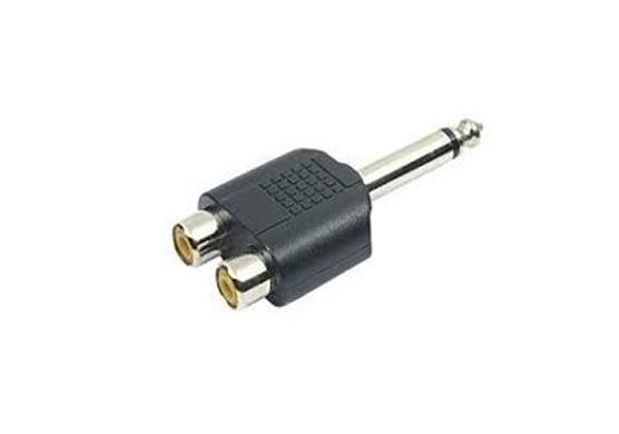 Adaptador Plug P10 Mono P/ 2 Jack RCA GL PT-007