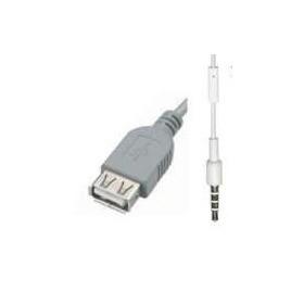 CABO P2 STEREO P/ USB FÊMEA 1,5MT CINZA