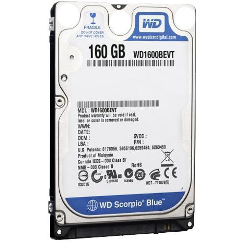 HD 160GB SATA P/ NOTEBOOK WESTERN DIGITAL
