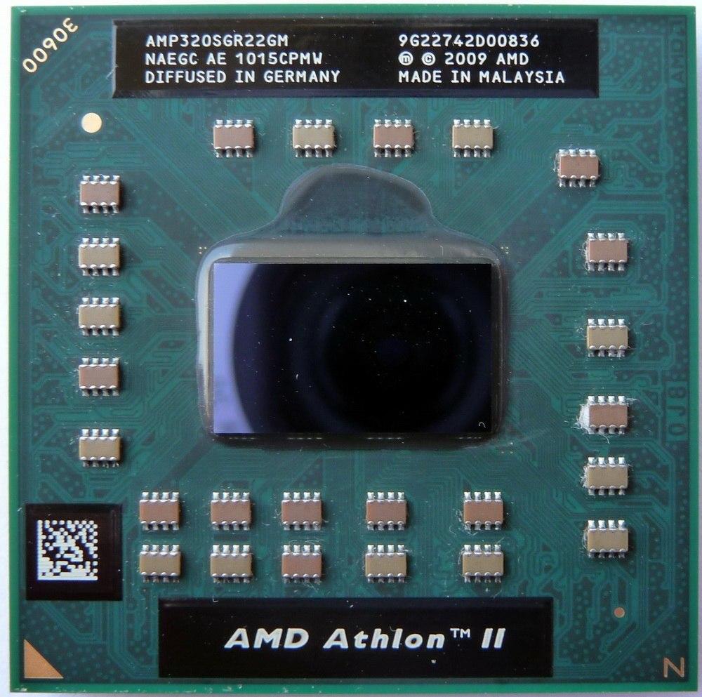 Processador Athlon Ii Dual-core Mobile P320 2.1GHz 1MB Amp320sgr22gm (semi novo)
