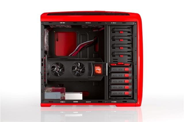 GABINETE SENTEY ARVINA 5 BAIAS S/ FONTE GS-6400R VERMELHO